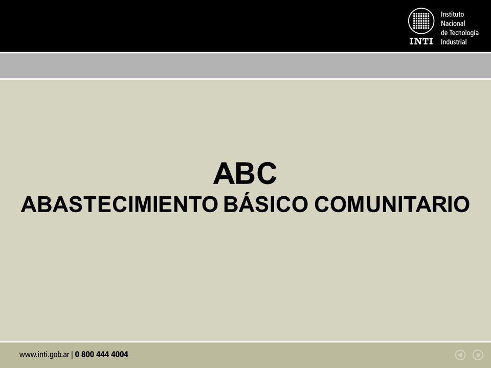 ABC ABASTECIMIENTO BÁSICO COMUNITARIO