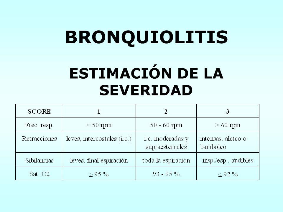 BRONQUIOLITIS ESTIMACIÓN DE LA SEVERIDAD