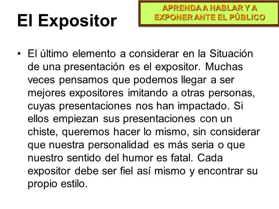 APRENDA A HABLAR Y A EXPONER ANTE EL PÚBLICO PARTE 7 El Expositor