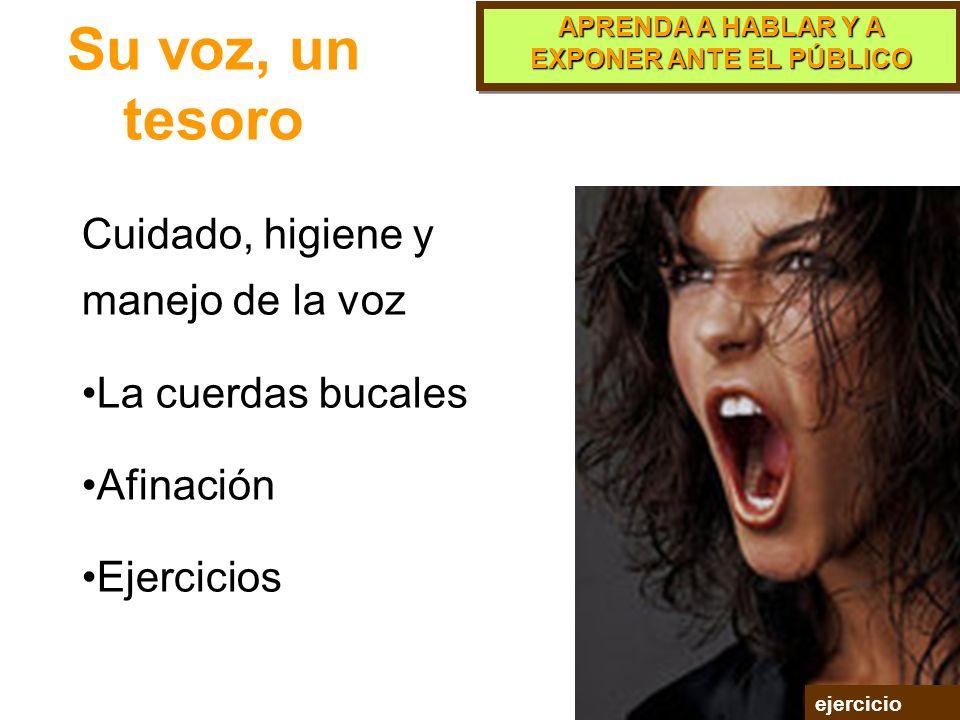 APRENDA A HABLAR Y A EXPONER ANTE EL PÚBLICO PARTE 8 La Voz
