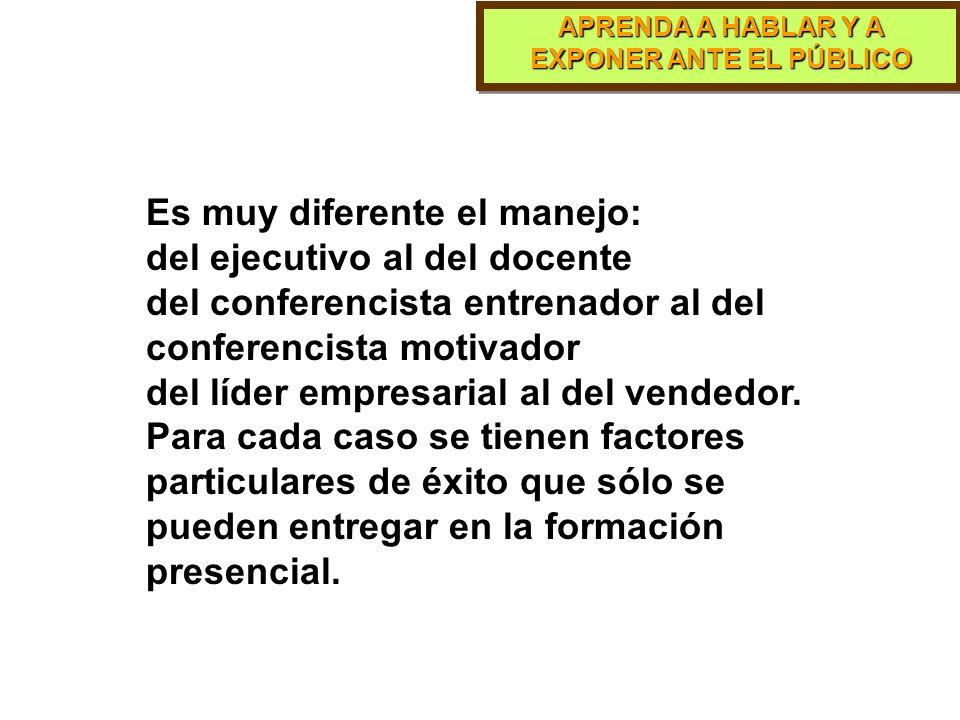 APRENDA A HABLAR Y A EXPONER ANTE EL PÚBLICO PARTE 13 En la práctica