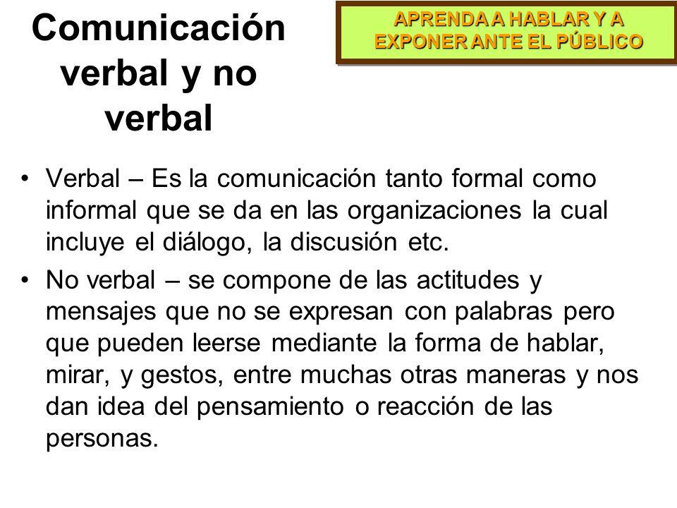 APRENDA A HABLAR Y A EXPONER ANTE EL PÚBLICO Comunicación Informal Es la comunicación establecida por los propios empleados sobre lo que pasa en la or