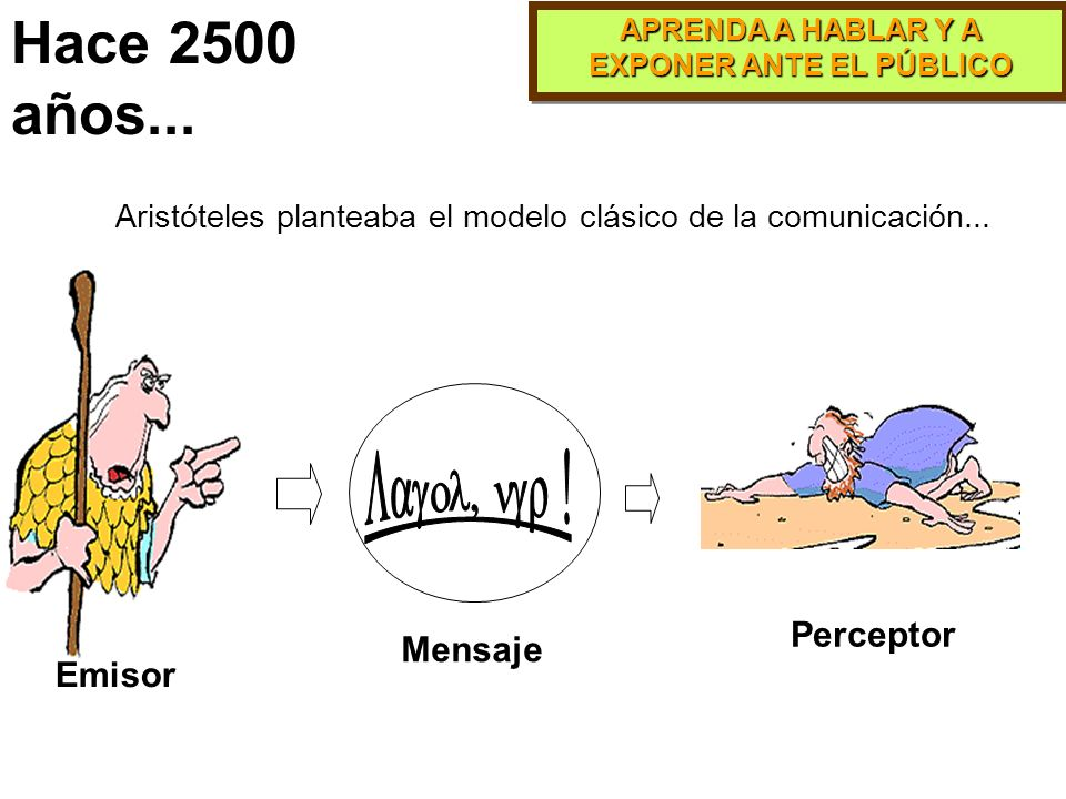 APRENDA A HABLAR Y A EXPONER ANTE EL PÚBLICO Hace 2500 años...