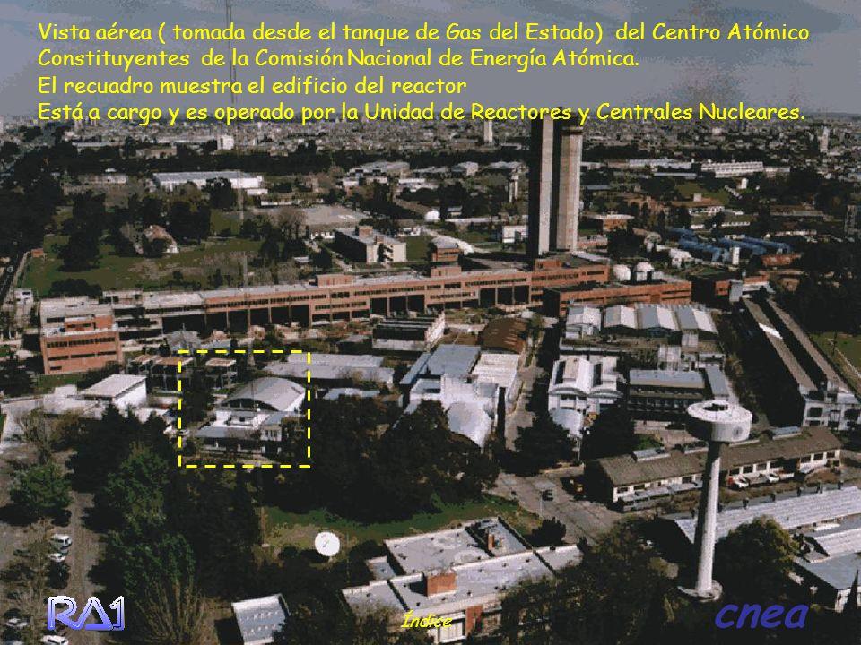 Vista aérea ( tomada desde el tanque de Gas del Estado) del Centro Atómico Constituyentes de la Comisión Nacional de Energía Atómica. Índice cnea El r
