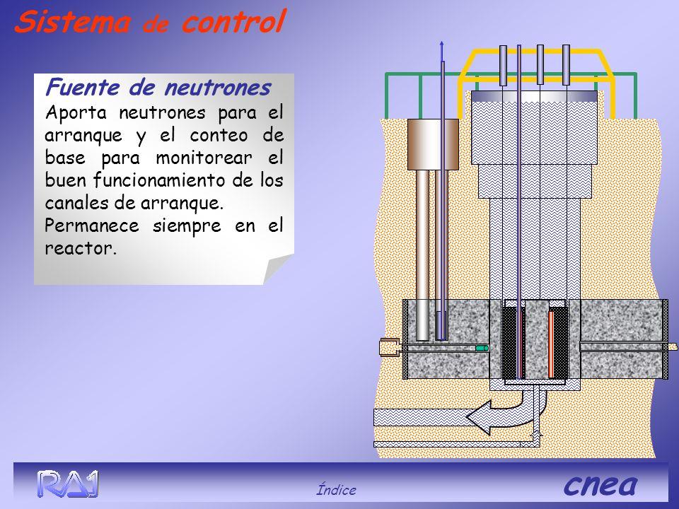 Fuente de neutrones Aporta neutrones para el arranque y el conteo de base para monitorear el buen funcionamiento de los canales de arranque. Permanece
