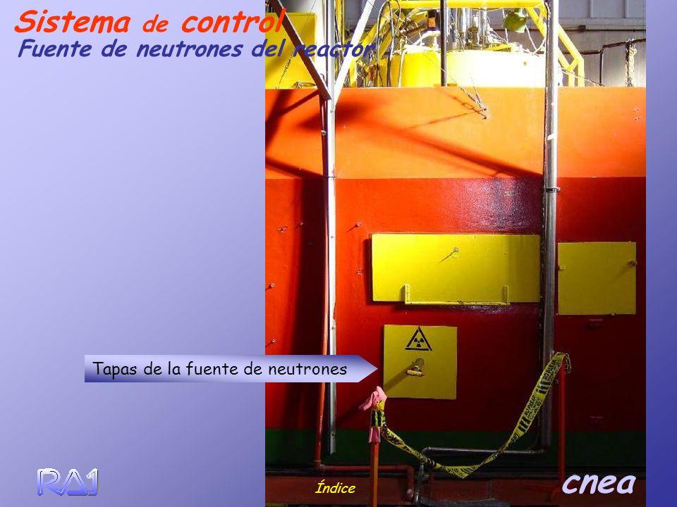 Índice cnea Fuente de neutrones del reactor Sistema de control Tapas de la fuente de neutrones