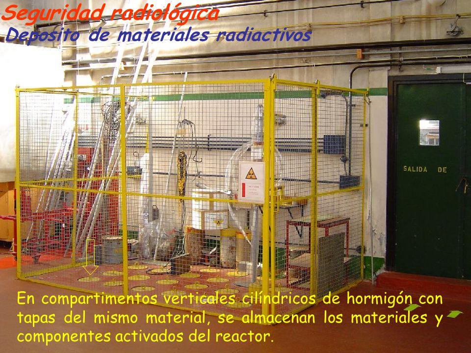 Seguridad radiológica Deposito de materiales radiactivos En compartimentos verticales cilíndricos de hormigón con tapas del mismo material, se almacen