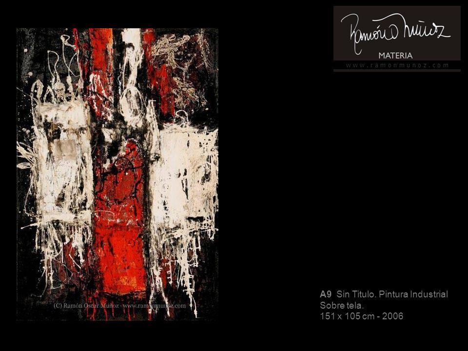 w w w. r a m o n m u n o z. c o m A9 Sin Titulo. Pintura Industrial Sobre tela. 151 x 105 cm - 2006