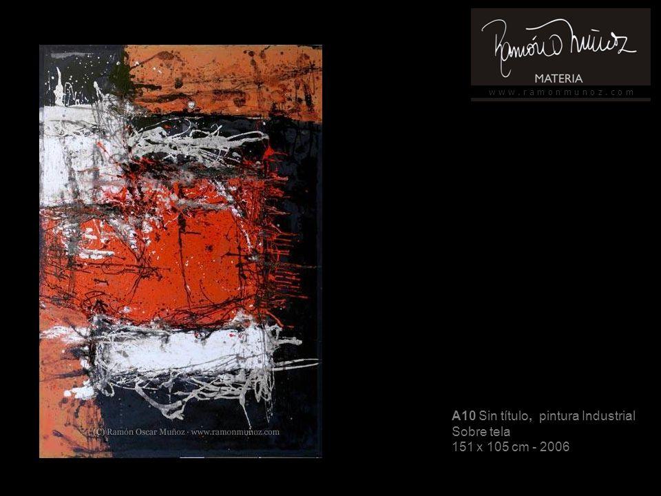 w w w. r a m o n m u n o z. c o m A10 Sin título, pintura Industrial Sobre tela 151 x 105 cm - 2006