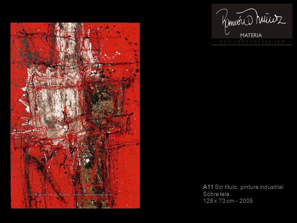 w w w. r a m o n m u n o z. c o m A11 Sin título, pintura industrial Sobre tela. 129 x 73 cm - 2005