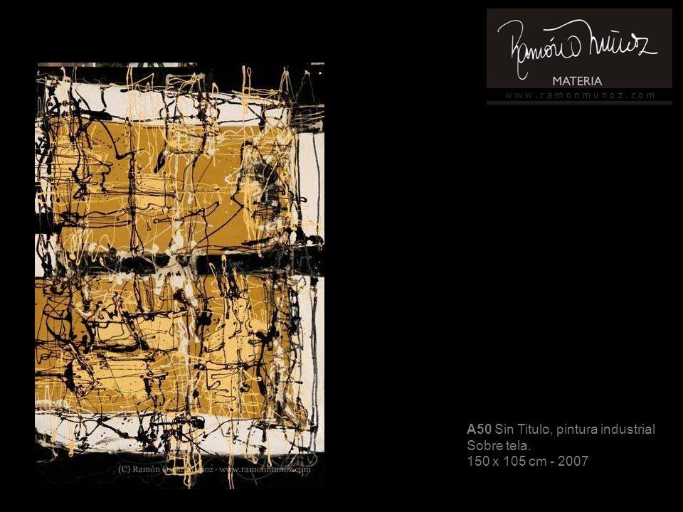w w w. r a m o n m u n o z. c o m A50 Sin Titulo, pintura industrial Sobre tela.