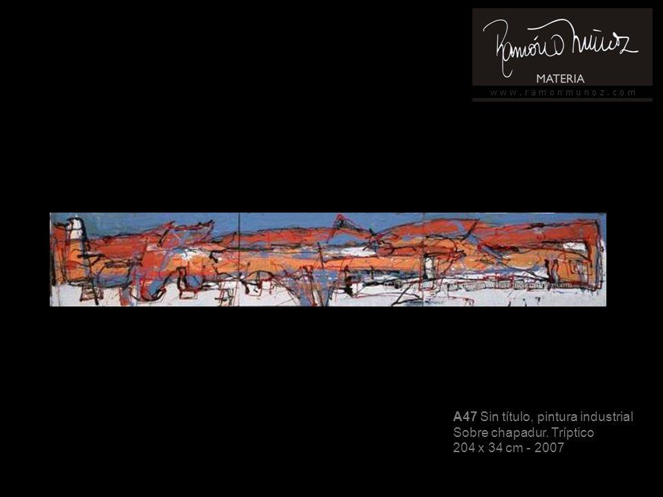 w w w. r a m o n m u n o z. c o m A47 Sin título, pintura industrial Sobre chapadur.