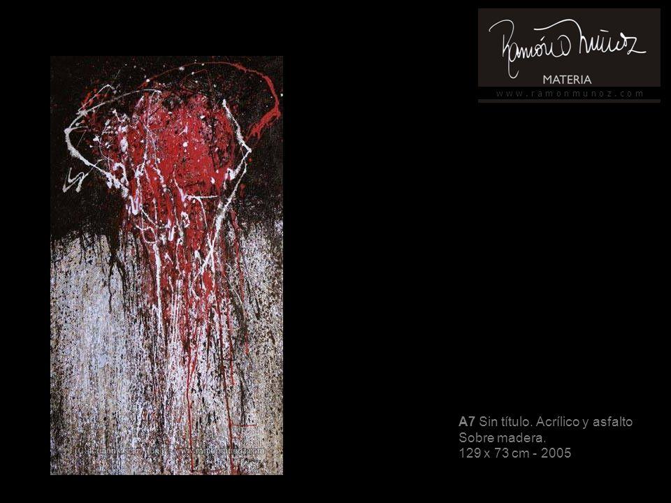 w w w. r a m o n m u n o z. c o m A8 Sin Titulo. Pintura Industrial Sobre tela 150 x 104 cm - 2006