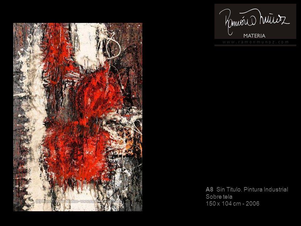 w w w. r a m o n m u n o z. c o m A46 Sin título, pintura industrial Sobre tela 184 x 215 cm - 2007