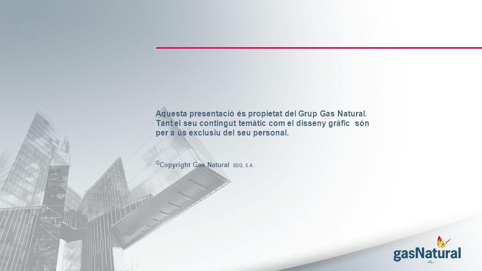 Aquesta presentació és propietat del Grup Gas Natural.