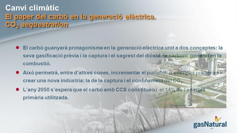 Canvi climàtic El paper del carbó en la generació elèctrica.