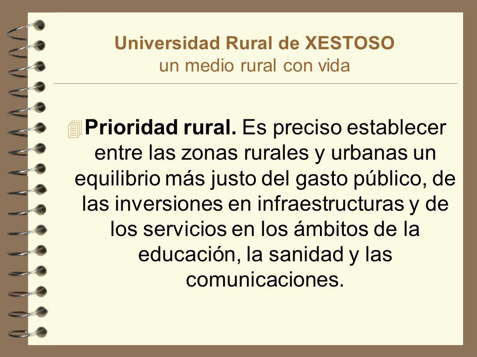 Universidad Rural de XESTOSO 4 Estudios ambientales y rurales : Desarrollo rural.