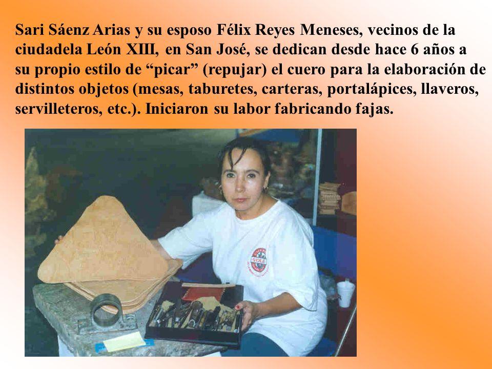 Sari Sáenz Arias y su esposo Félix Reyes Meneses, vecinos de la ciudadela León XIII, en San José, se dedican desde hace 6 años a su propio estilo de p