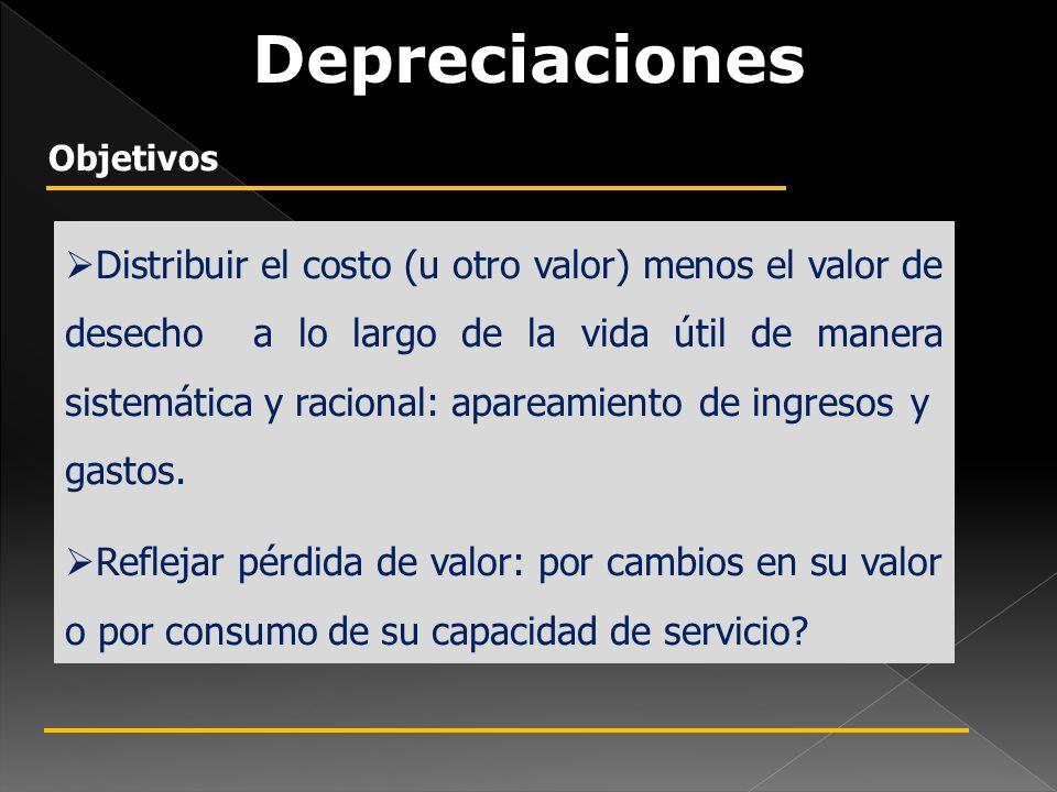 Distribuir el costo (u otro valor) menos el valor de desecho a lo largo de la vida útil de manera sistemática y racional: apareamiento de ingresos y gastos.