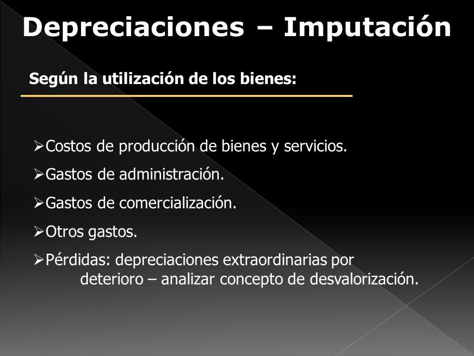 Costos de producción de bienes y servicios.Gastos de administración.