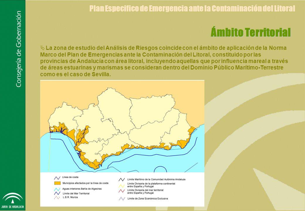 Análisis de Riesgos del Plan Especifico de Emergencia ante la Contaminación del Litoral Área de Estudio Campo de direcciones y Velocidades de Viento Distribución Territorial de Vientos Modelo de Simulación de Movimiento y Merma del Vertido