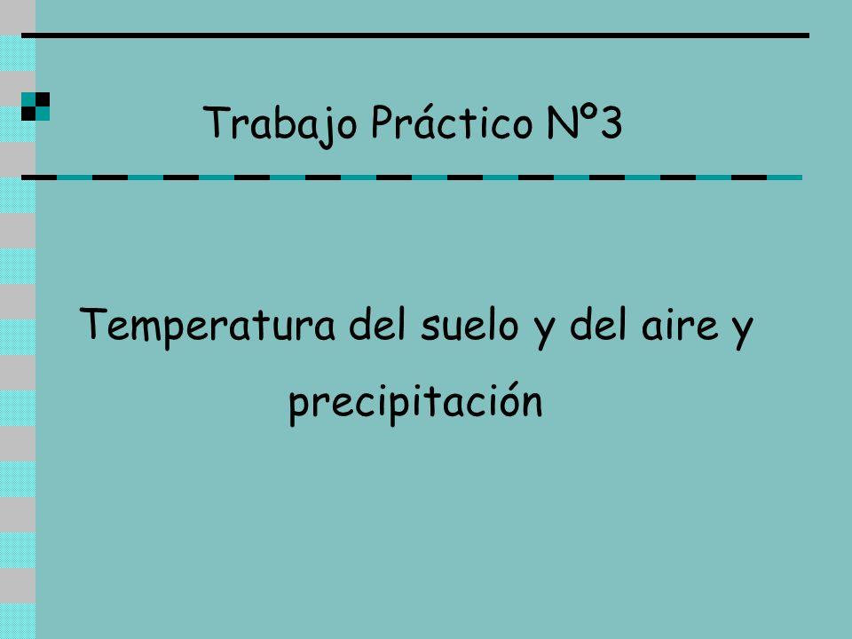 Trabajo Práctico Nº3 Temperatura del suelo y del aire y precipitación