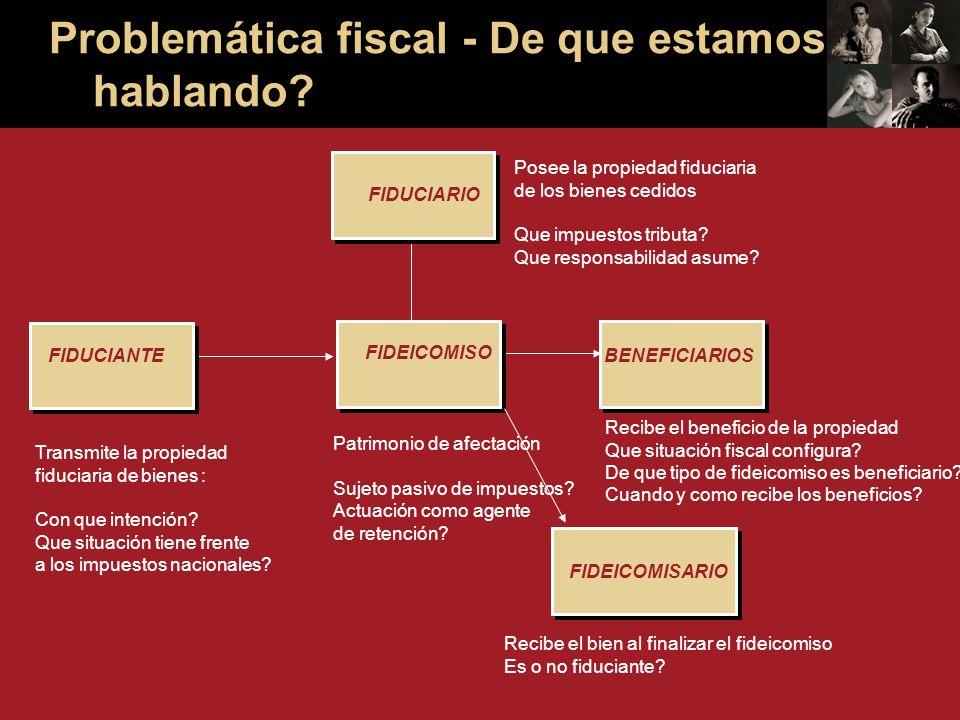 Recibe el beneficio de la propiedad Que situación fiscal configura.