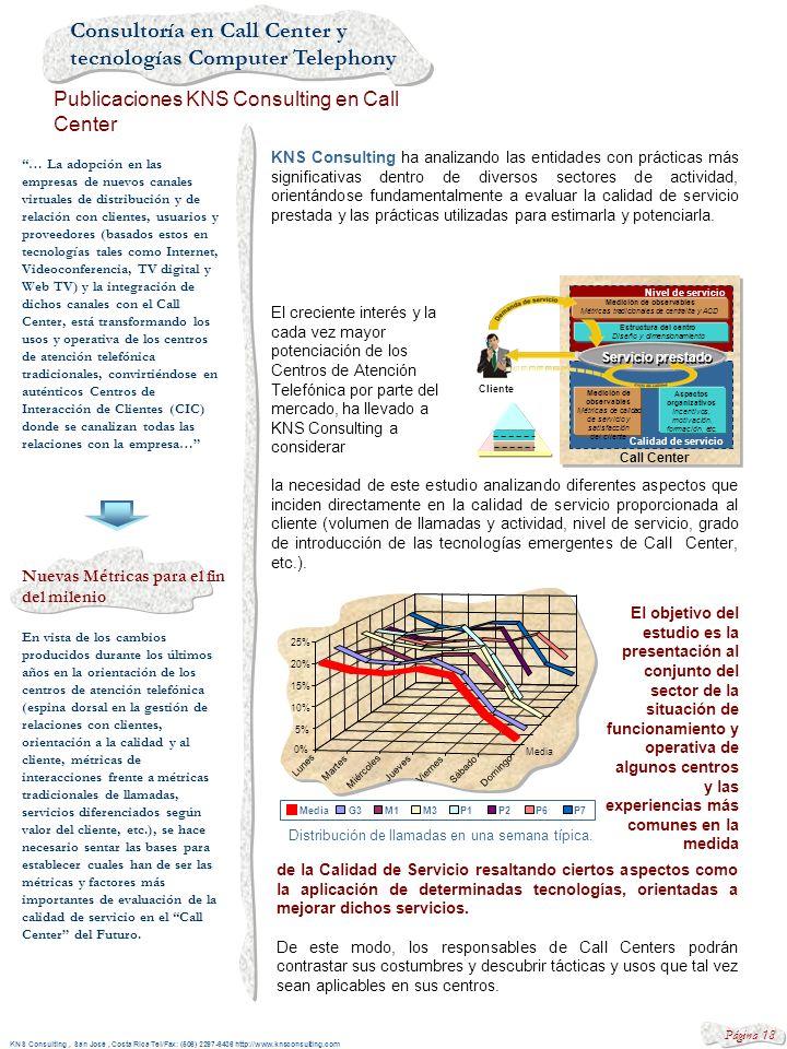 Consultoría en Call Center y tecnologías Computer Telephony Servicios profesionales KNS Consulting KNS Consulting, San José, Costa RIca Tel/Fax: (506)