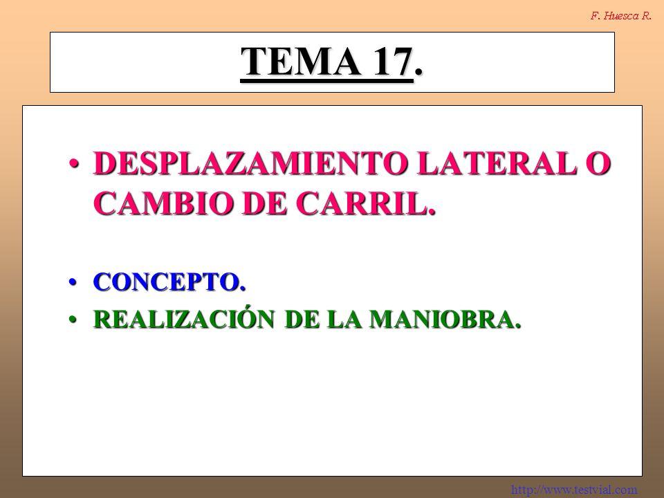 http://www.testvial.com CONCEPTO.DEFINICIÓN DE LA MANIOBRA.