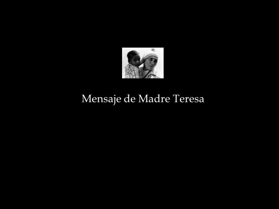 Mensaje de Madre Teresa
