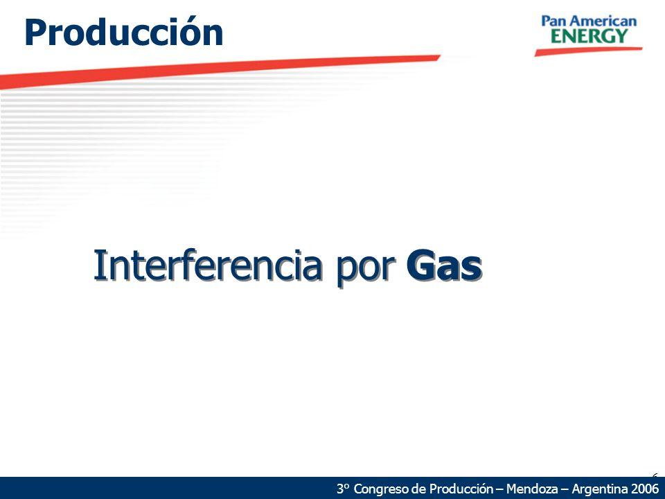 6 Producción 3° Congreso de Producción – Mendoza – Argentina 2006 Interferencia por Gas