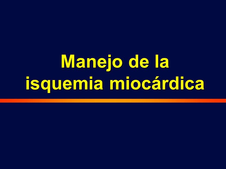 Manejo de la isquemia miocárdica