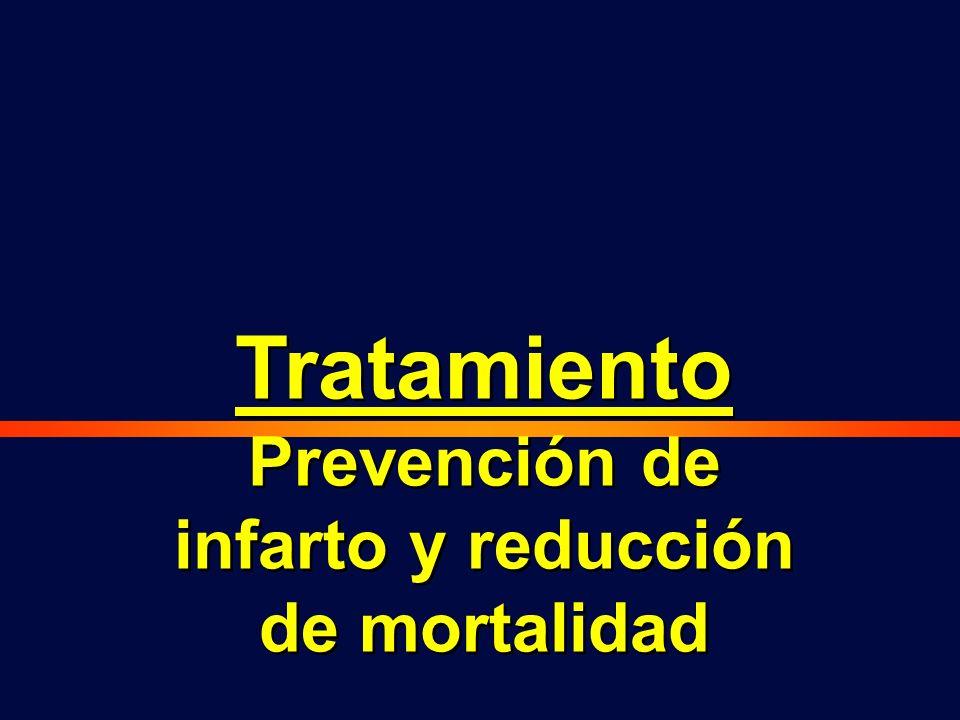 Tratamiento Prevención de infarto y reducción de mortalidad Tratamiento Prevención de infarto y reducción de mortalidad