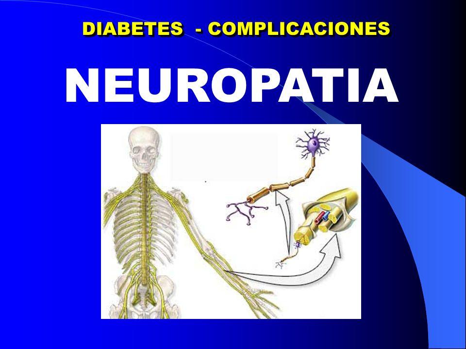 NEUROPATIA DIABETICA NEUROPATIA CARDIACA NEUROPATIA DIABETICA NEUROPATIA CARDIACA Corazon rigido – Ausencia de modificaciones x estimulos