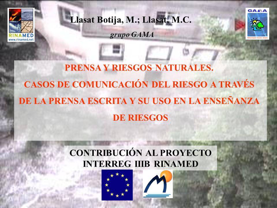 PRENSA Y RIESGOS NATURALES.