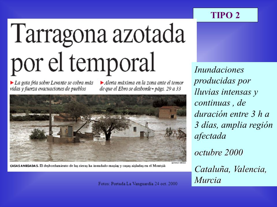 TIPO 2 Fotos: Portada La Vanguardia 24 oct.