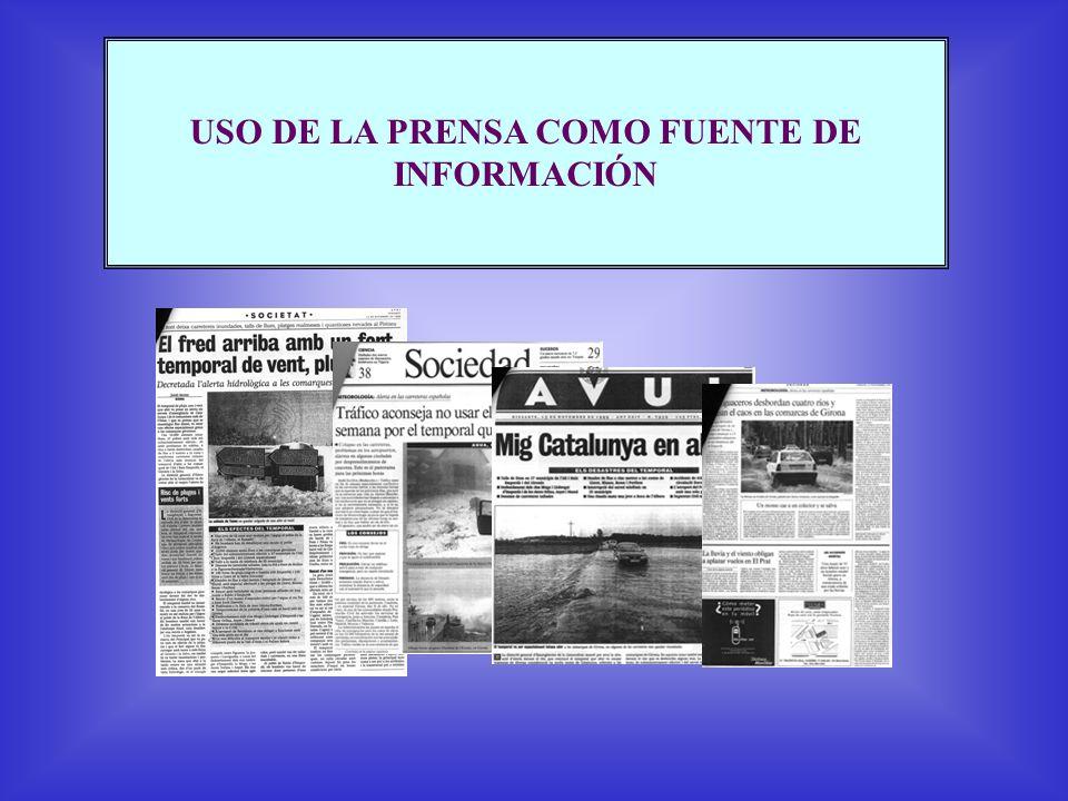 Inundaciones producidas por lluvias muy intensas y persistentes durante varias horas 10 junio 2000 25 septiembre 1962 7 agosto 1996 Esta palabra aparece en prensa entre 1982 y 2002 en unas 33 ocasiones TIPO 2 Fotos: junio 2000