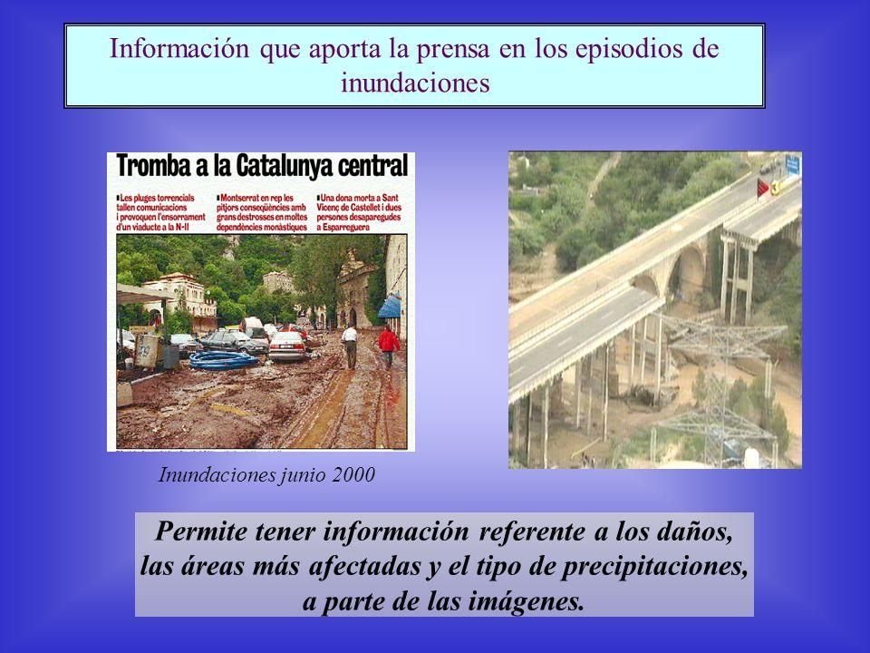 Permite tener información referente a los daños, las áreas más afectadas y el tipo de precipitaciones, a parte de las imágenes.