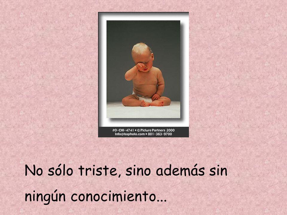 No sólo triste, sino además sin ningún conocimiento No sólo triste, sino además sin ningún conocimiento...