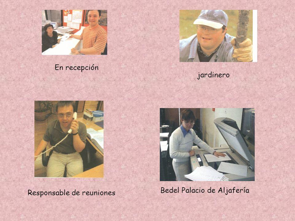 Bedel Palacio de Aljafería Responsable de reuniones En recepción jardinero