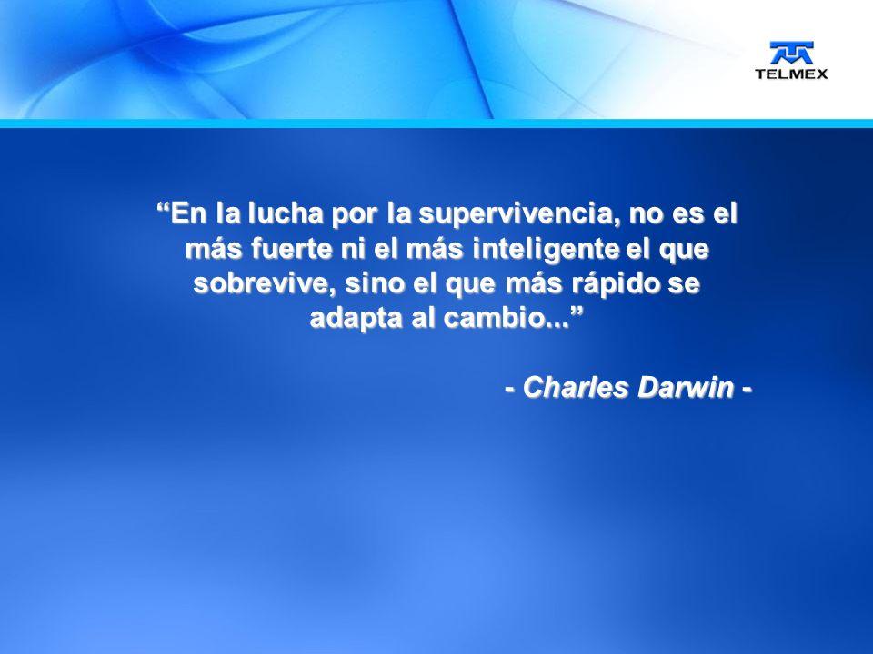 En la lucha por la supervivencia, no es el más fuerte ni el más inteligente el que sobrevive, sino el que más rápido se adapta al cambio...