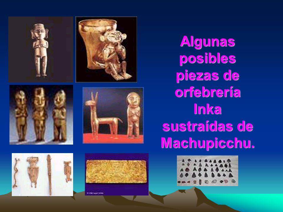 Seguidamente se apropió de gran cantidad de los tesoros que halló (más de 5000 piezas) y lo envió y/o llevó a los EE.UU.