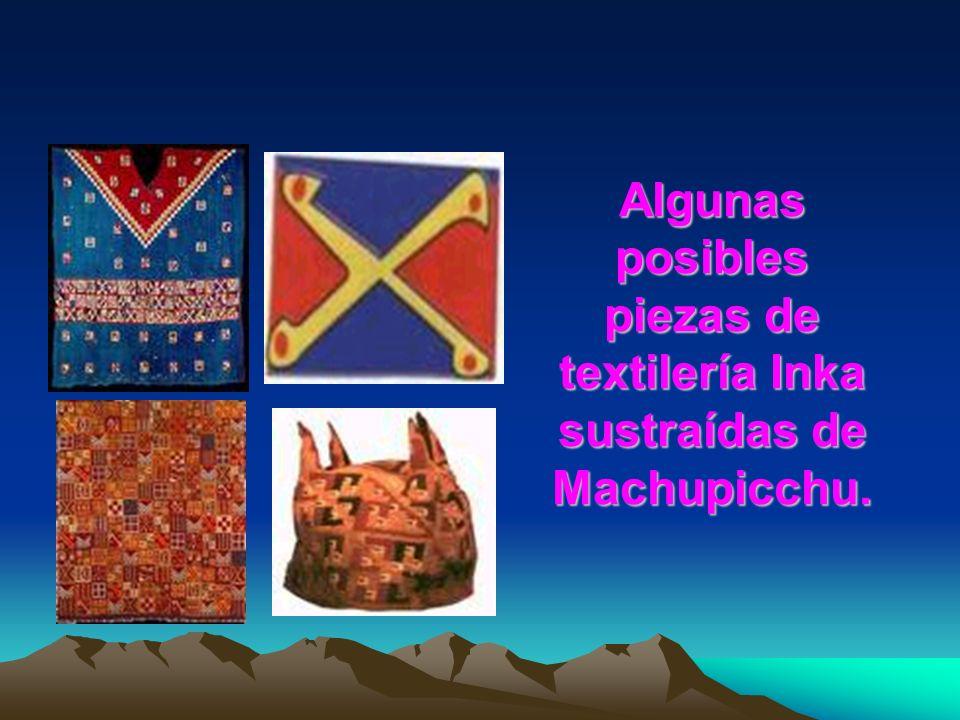 Algunas posibles piezas de cerámica Inka sustraídas de Machupicchu.