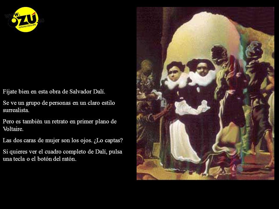 Fíjate bien en esta obra de Salvador Dalí.
