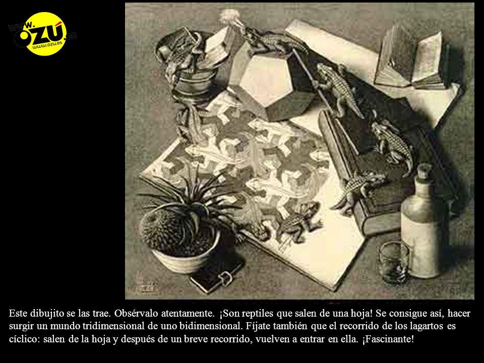 A continuación, observa atentamente este mundo imposible de Escher.