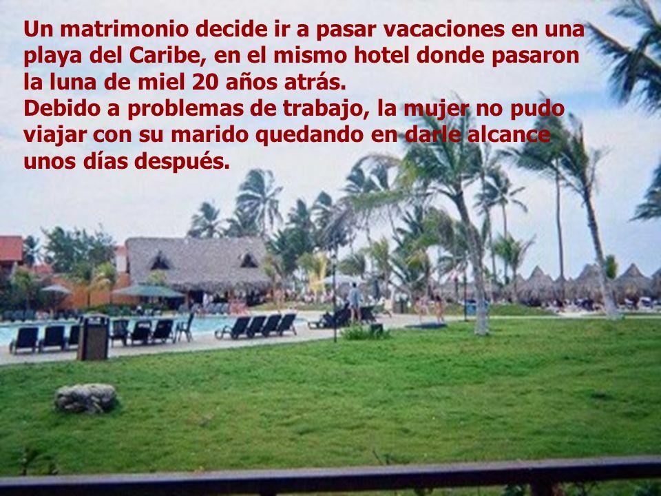 Un matrimonio decide ir a pasar vacaciones en una playa del Caribe, en el mismo hotel donde pasaron la luna de miel 20 años atrás. Debido a problemas