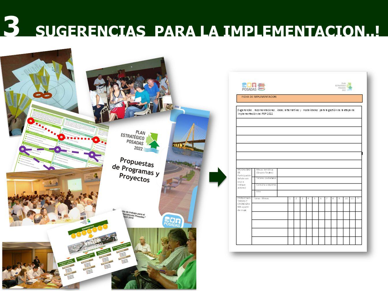 SUGERENCIAS PARA LA IMPLEMENTACION..! 3