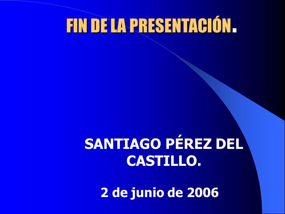 FIN DE LA PRESENTACIÓN PRESENTACIÓN. SANTIAGO PÉREZ DEL CASTILLO. 2 de junio de 2006