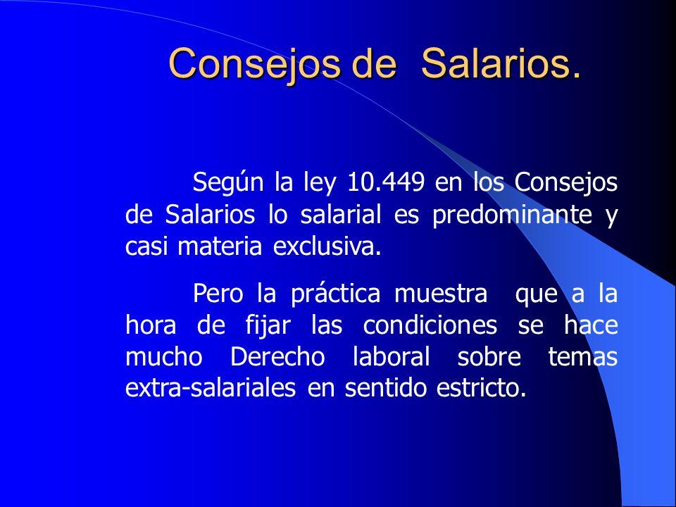 Consejos de Salarios.