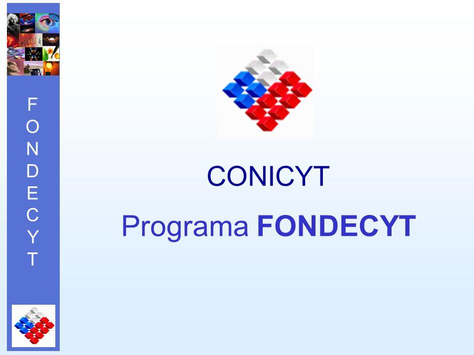 FONDECYTFONDECYT CONICYT Programa FONDECYT